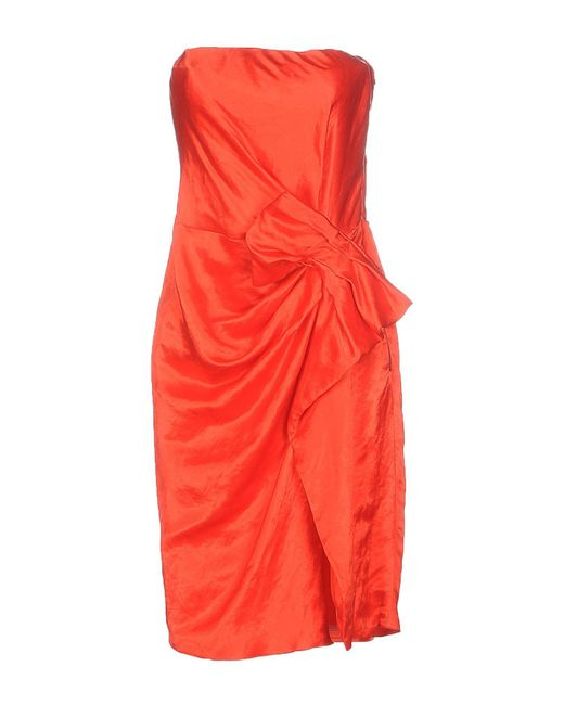 Lanvin - Red Short Dresses - Lyst