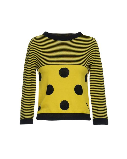 Boutique Moschino - Yellow Jumper - Lyst