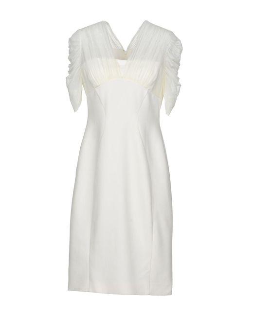 0a4069d7b5f Versace - White Knee-length Dress - Lyst ...