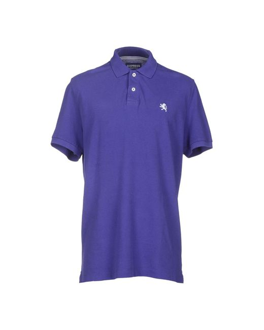 Express | Purple Polo Shirt for Men | Lyst