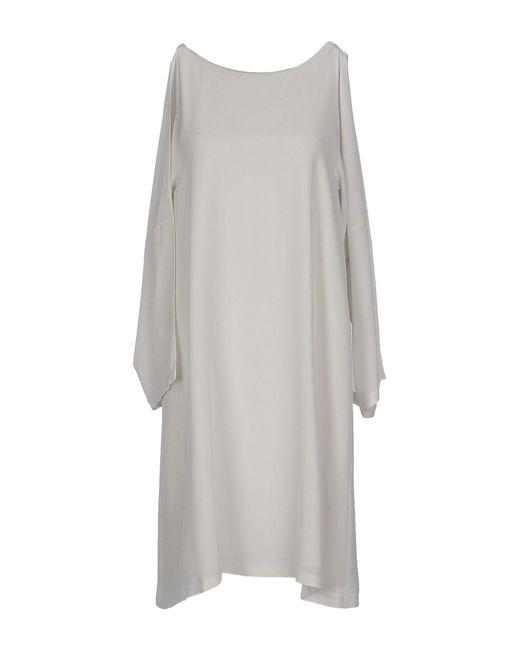Maison Margiela - Gray Short Dress - Lyst