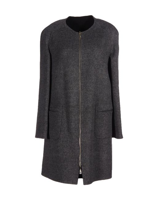 Emporio Armani | Gray Coat | Lyst
