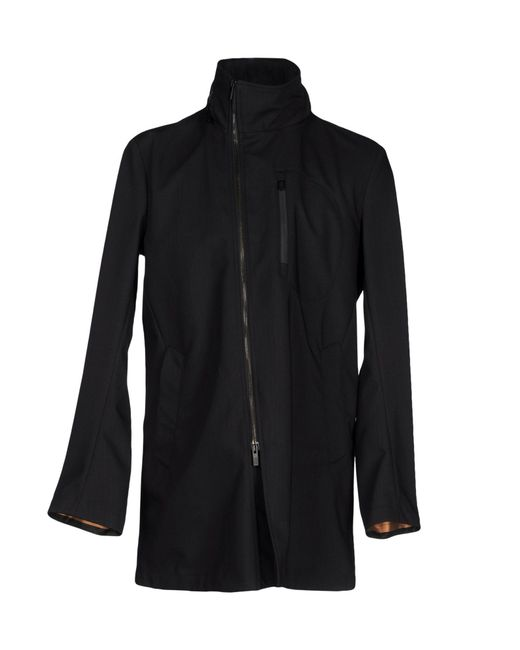 armani full length jacket in blue lyst. Black Bedroom Furniture Sets. Home Design Ideas