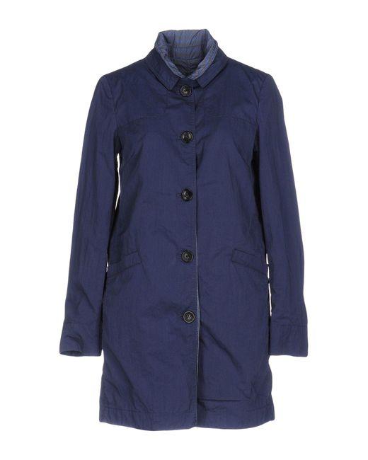 Peuterey | Blue Overcoat | Lyst