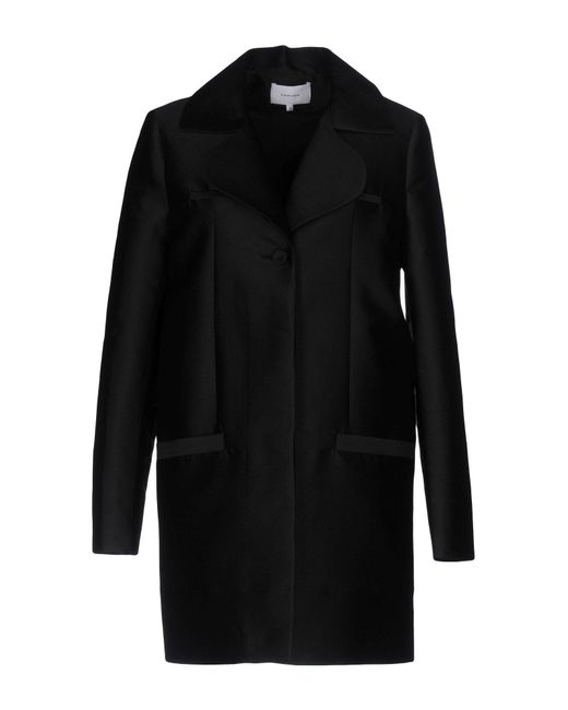Carven | Black Coat | Lyst