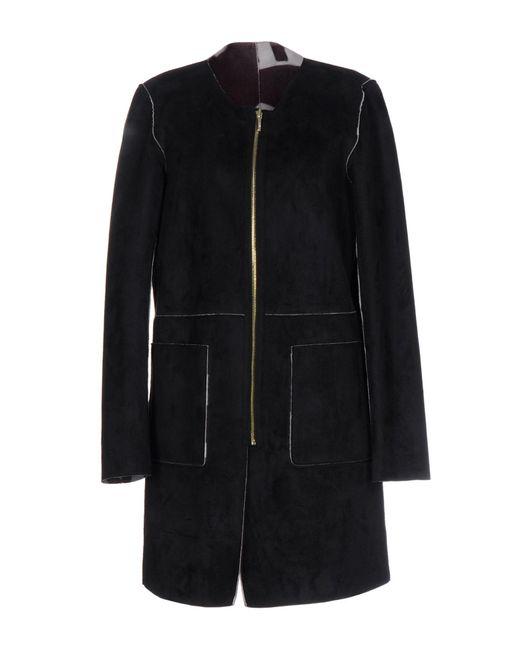 Liu Jo | Black Overcoat | Lyst
