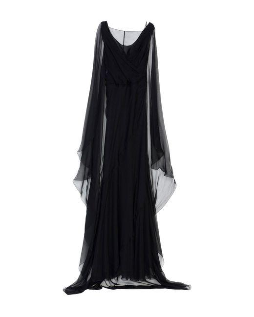 Alberta Ferretti - Black Long Dress - Lyst