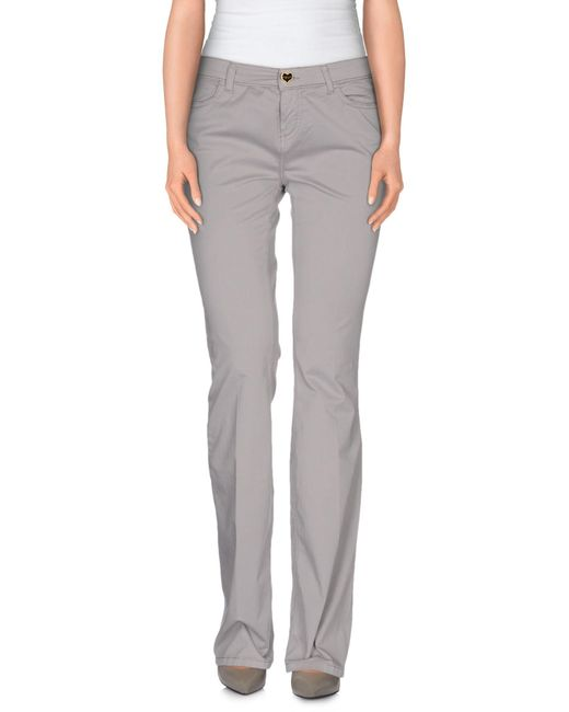 Twin Set - Gray Casual Trouser - Lyst