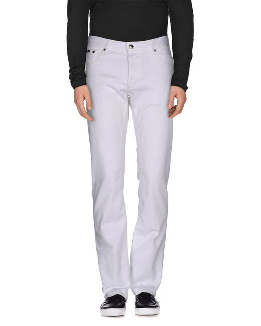 Just Cavalli | White Denim Pants for Men | Lyst