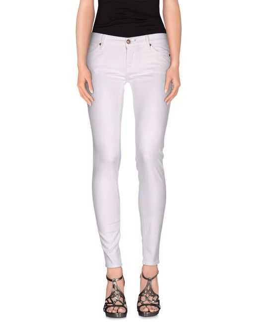 HTC | White Denim Pants | Lyst