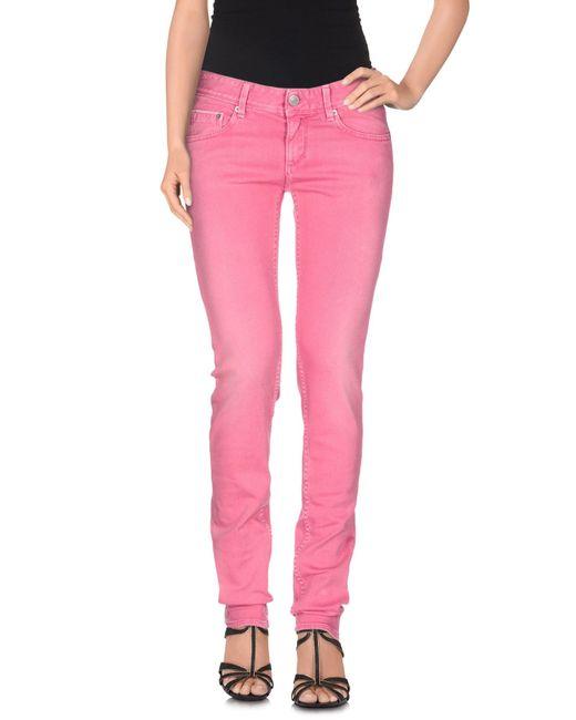 Care Label | Purple Denim Trousers | Lyst