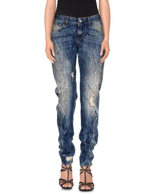 Manila Grace | Blue Denim Pants | Lyst