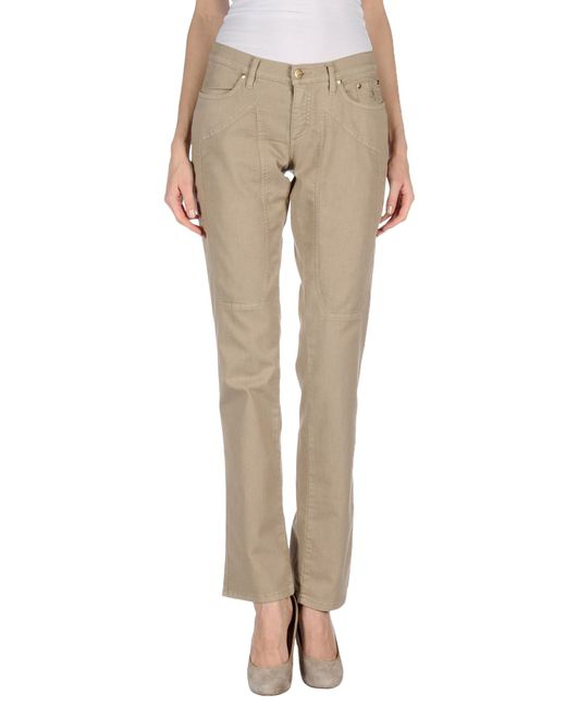 Jeckerson | Natural Denim Trousers | Lyst