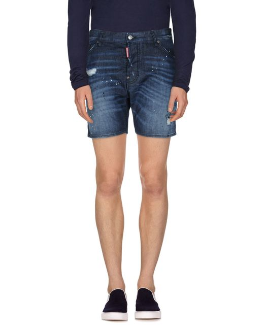 DSquared² | Blue Denim Shorts for Men | Lyst