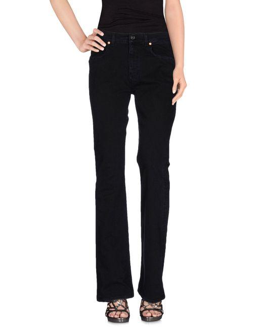 Acne | Black Denim Trousers | Lyst