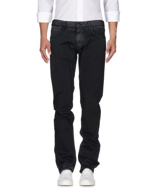 Emporio Armani | Black Denim Pants for Men | Lyst
