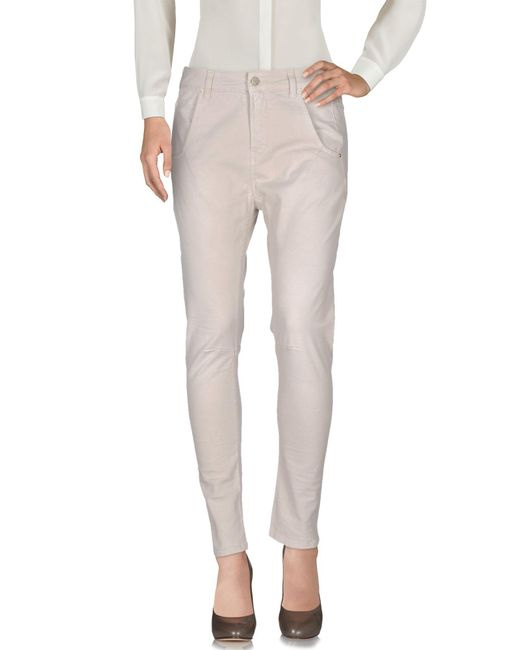 Manila Grace - Natural Casual Pants - Lyst