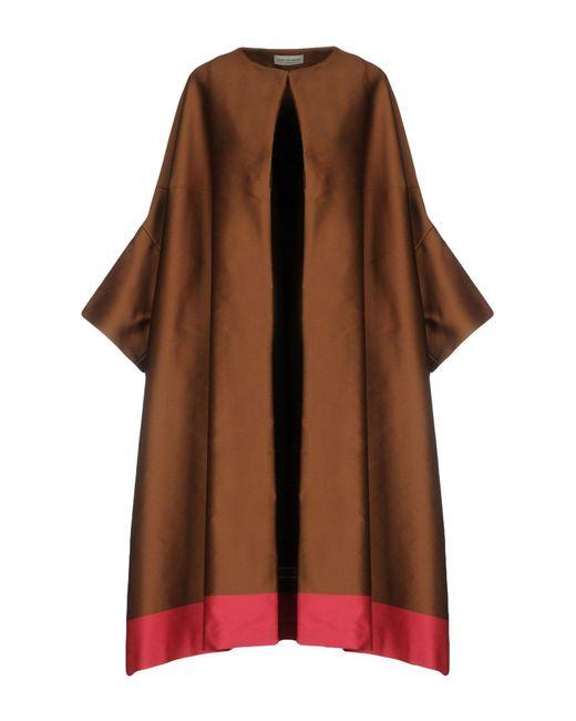 Dries Van Noten | Brown Overcoat | Lyst