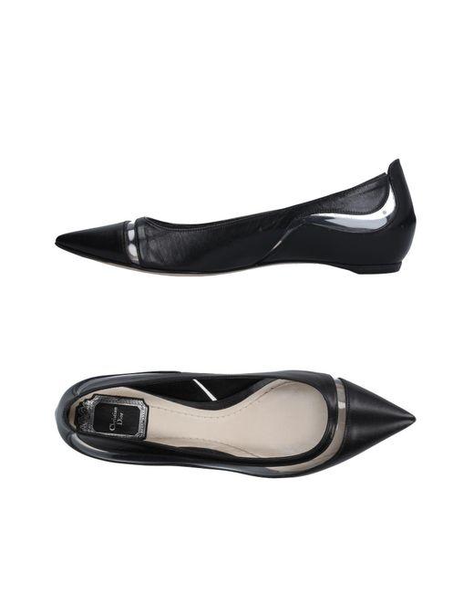 Dior   Black Ballet Flats   Lyst