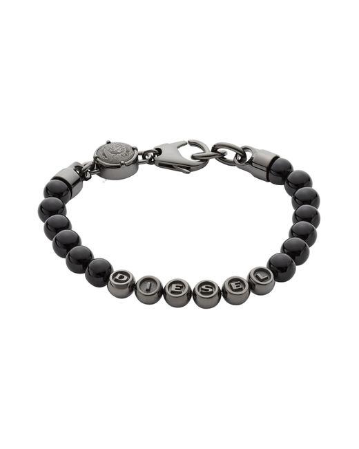 DIESEL - Black Bracelets for Men - Lyst