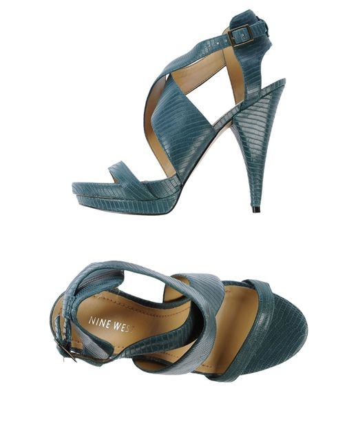Nine West | Green Sandals | Lyst
