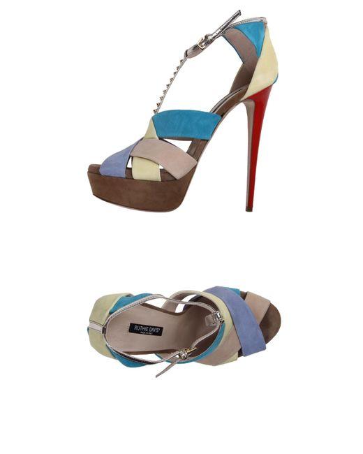 Ruthie Davis   Blue Sandals   Lyst
