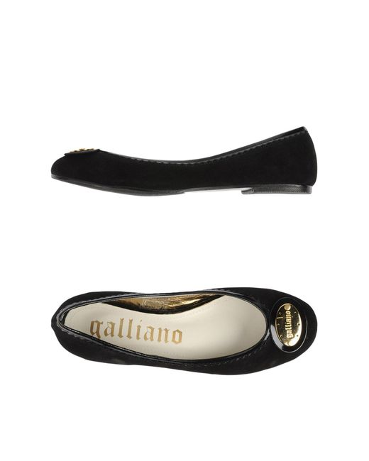 John Galliano - Black Ballet Flats - Lyst