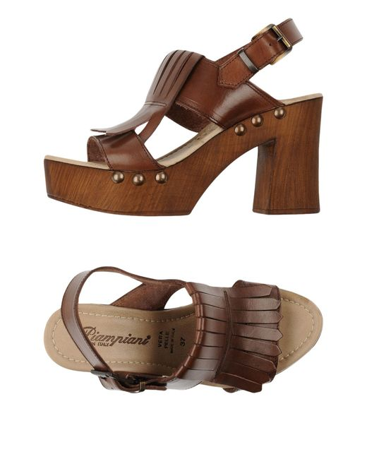 Piampiani | Brown Sandals | Lyst
