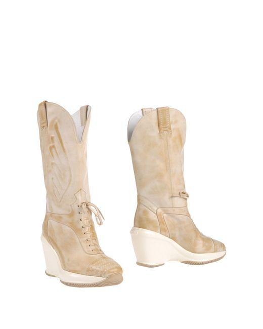 Hogan by Karl Lagerfeld | Natural Boots | Lyst