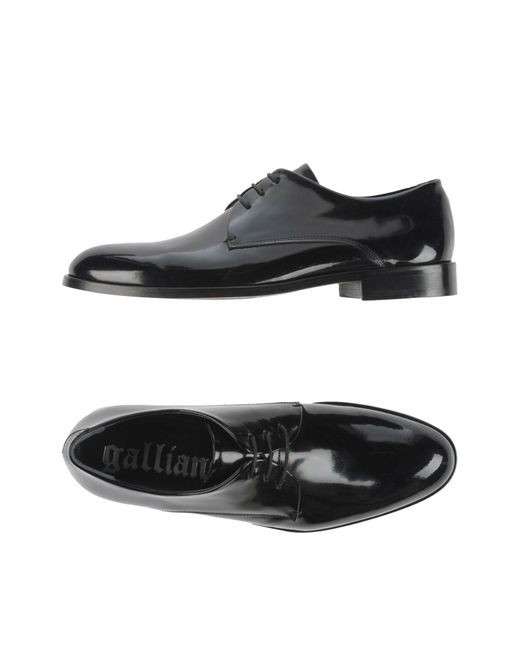 John Galliano | Black Lace-up Shoe for Men | Lyst