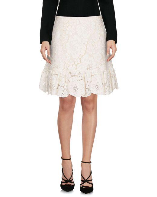 Philosophy Di Lorenzo Serafini - White Knee Length Skirts - Lyst
