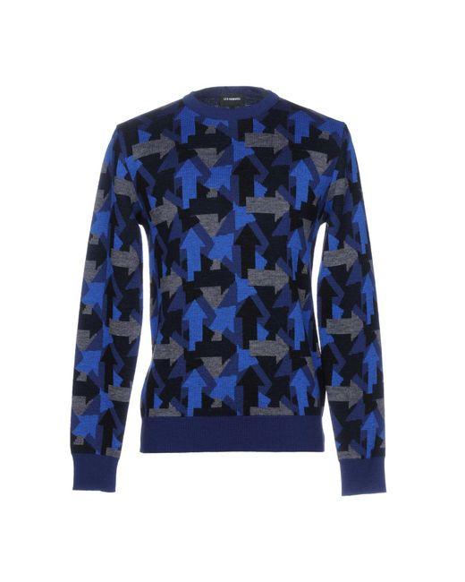 Les Hommes - Blue Sweater for Men - Lyst