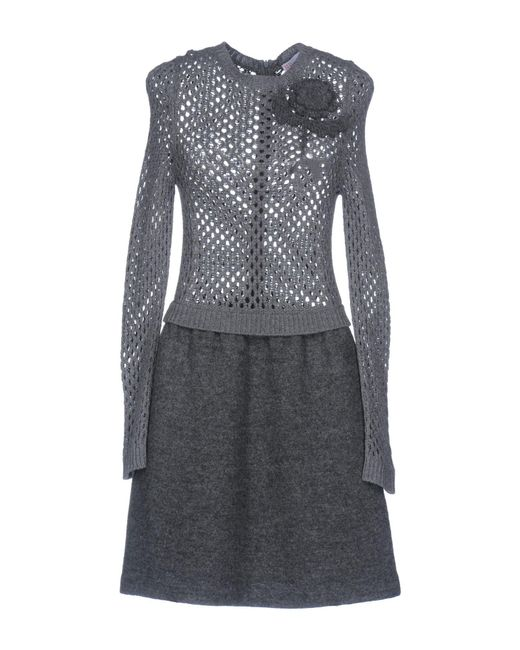 RED Valentino - Gray Short Dresses - Lyst