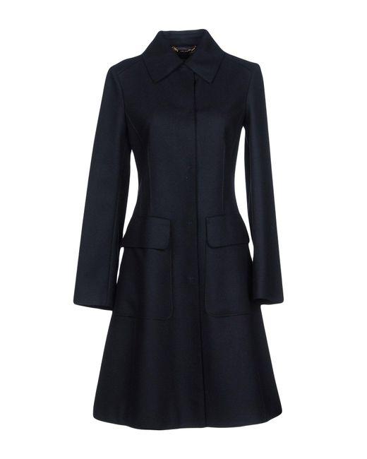 Alberta Ferretti - Blue Coat - Lyst