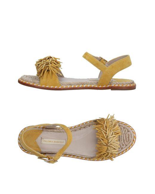 Paloma Barceló - Yellow Sandals - Lyst