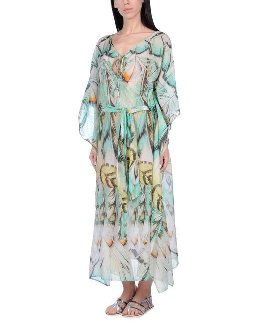 Roberto Cavalli | Green Beach Dress | Lyst