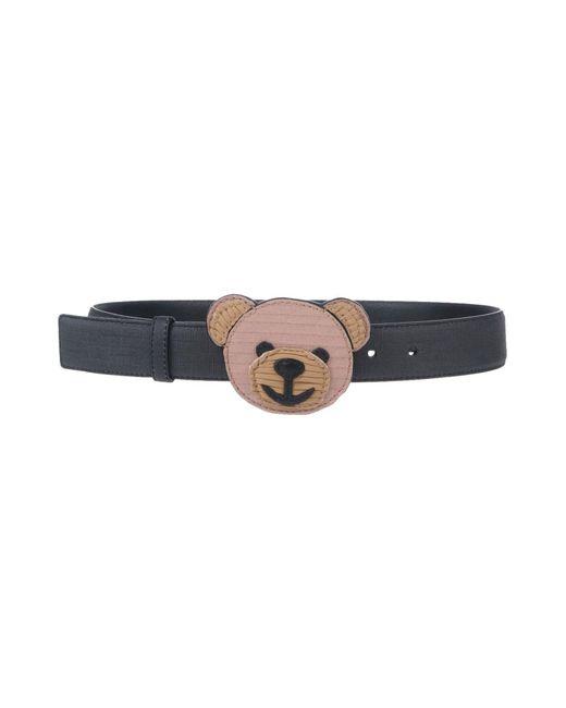 Moschino - Black Belt - Lyst