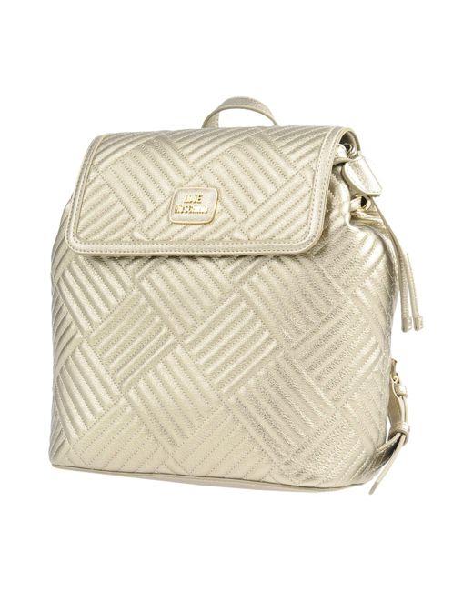 Love Moschino - Metallic Backpacks & Bum Bags - Lyst