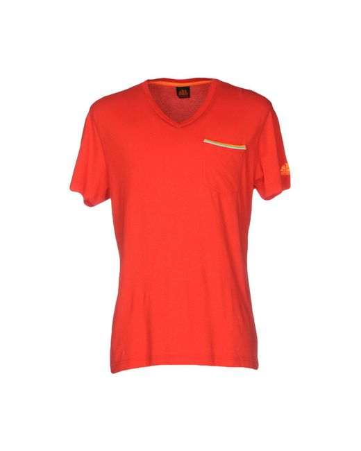 Sundek | Red T-shirt for Men | Lyst