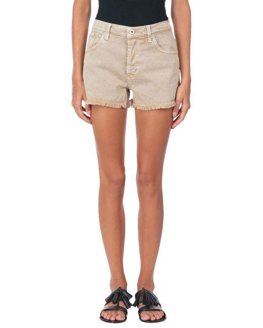 Dondup - Natural Denim Shorts - Lyst