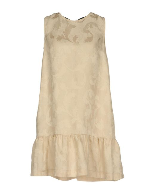 Jucca - Natural Short Dress - Lyst