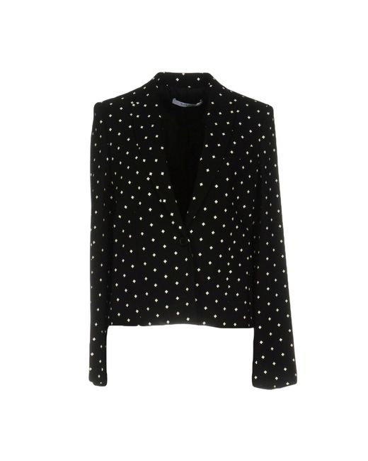 Givenchy | Black Crosses Cady Cropped Blazer | Lyst