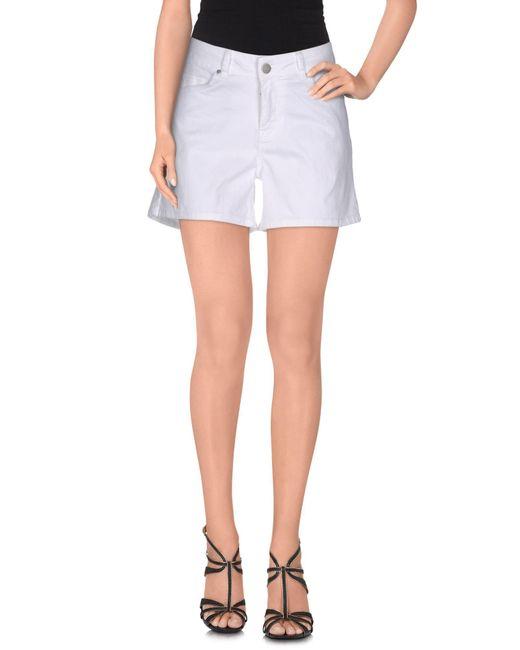 SuperTrash - White Denim Shorts - Lyst