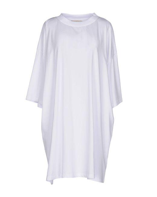 Amen - White Short Dress - Lyst