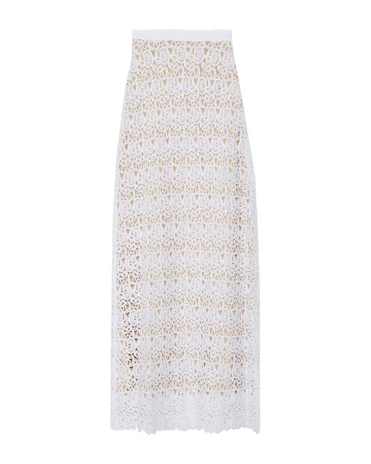 Miguelina - White Long Skirt - Lyst