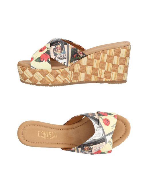 Loriblu - White Sandals - Lyst