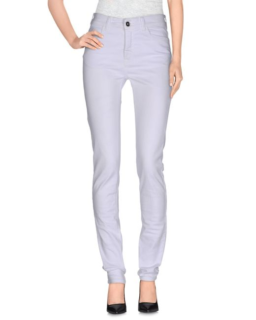 MM6 by Maison Martin Margiela - White Casual Trouser - Lyst