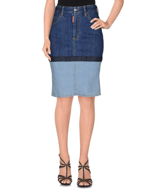 DSquared² - Blue Denim Skirts - Lyst