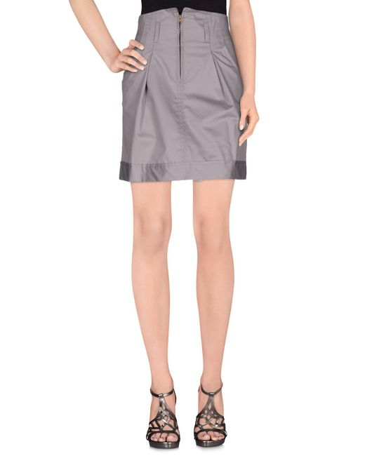 Collection Privée - Gray Knee Length Skirt - Lyst
