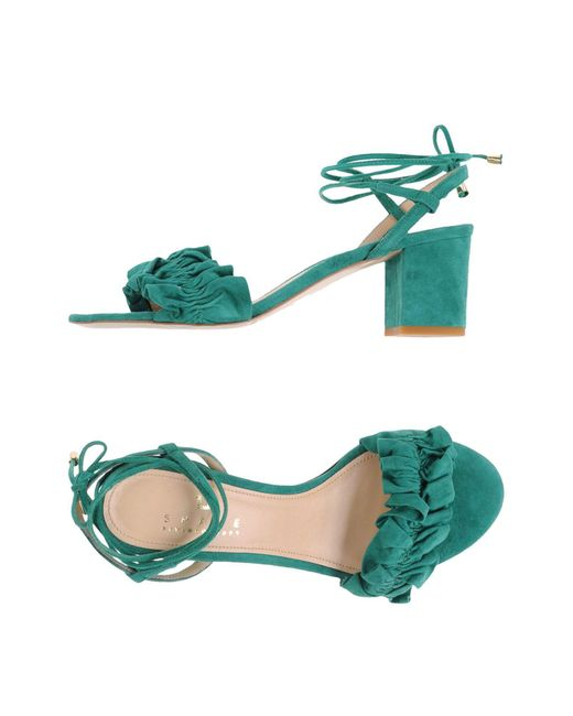 Space Style Concept - Green Sandals - Lyst